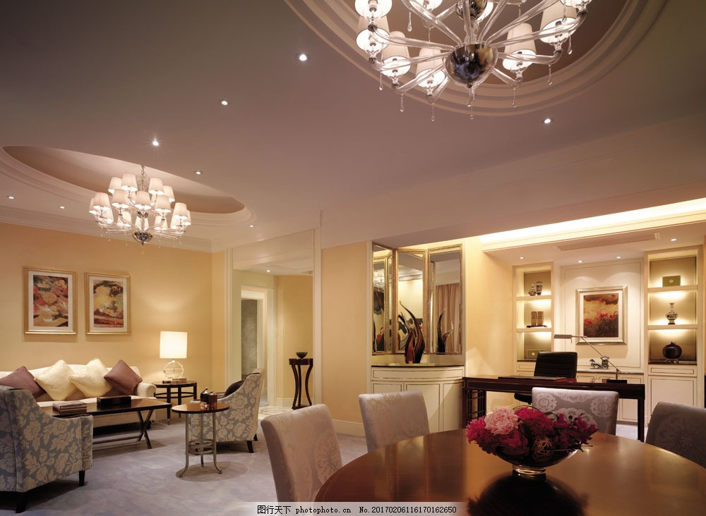 室内装饰效果图 室内装潢 时尚家居 装潢设计 室内装修 豪华餐厅室内