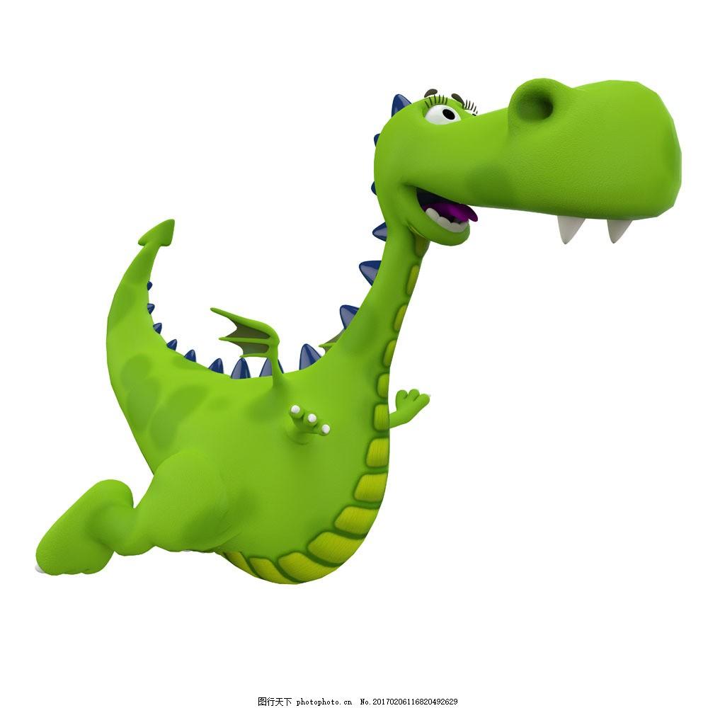 绿色恐龙图片