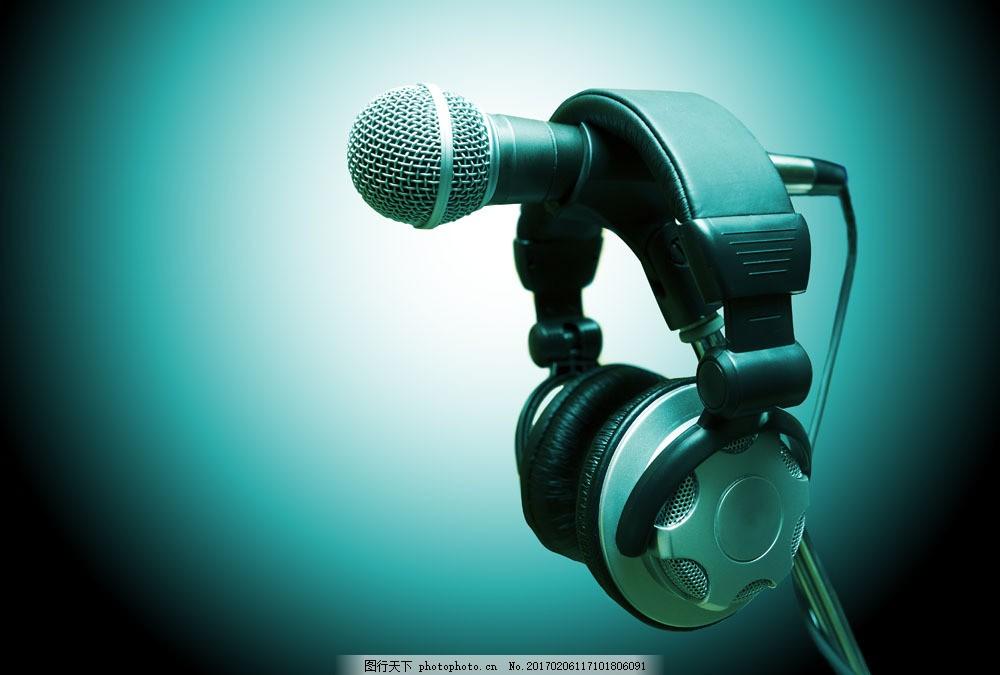 耳机和麦克风 耳机和麦克风图片素材 娱乐器材 影音娱乐