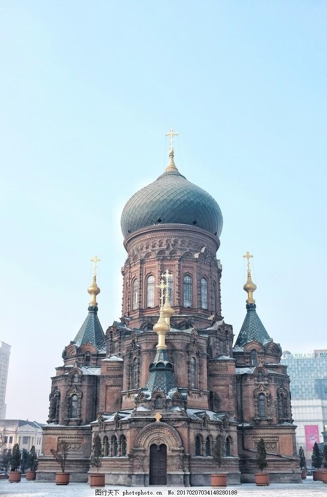 哈尔滨圣索菲亚教堂 俄罗斯 建筑 中央大街 小雪 建筑/图案 摄影