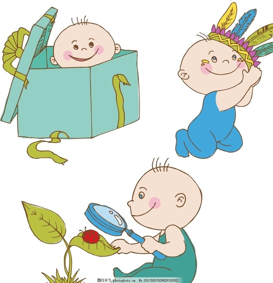 可爱 素材 手绘素材 儿童素材 卡通 矢量 抽象 可爱卡通 卡通儿童素材