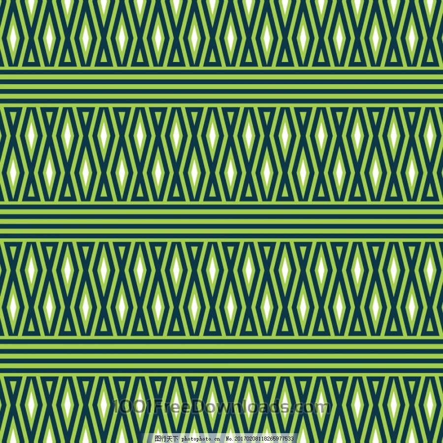 几何绿白图案图片
