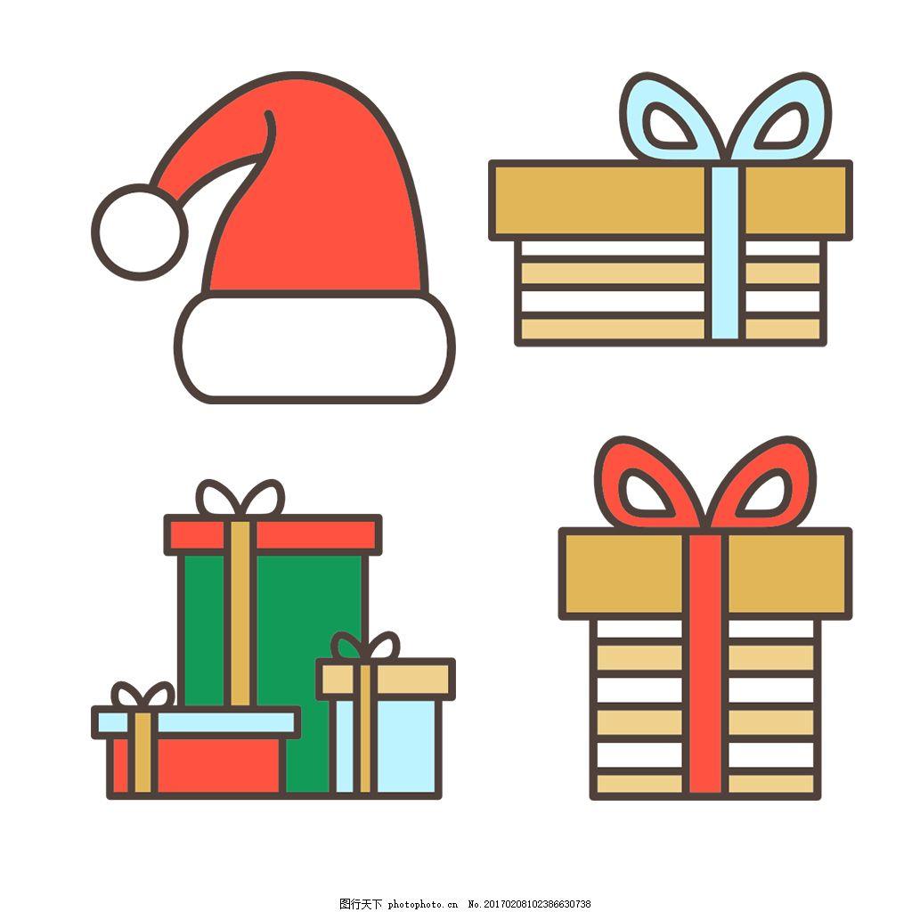 简约 精美 可爱 圆润 方正 立体 人物 图标 icon 圣诞节 圣诞 礼物