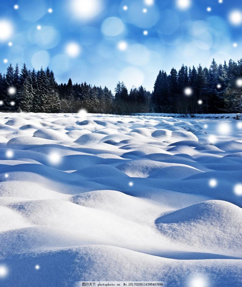 美丽冬天雪景 美丽冬天雪景图片素材 雪地 美丽雪景 梦幻背景 风景
