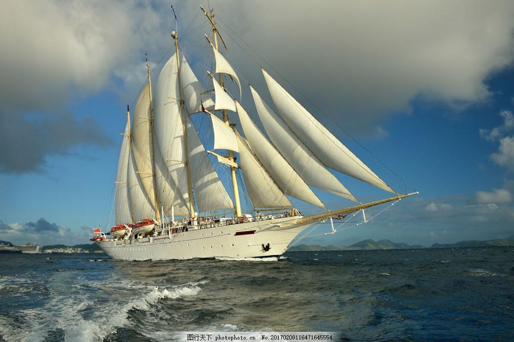 海浪与帆船图片素材 乌云 蓝天 大海 浪花 海浪 帆船 行驶 汽车图片