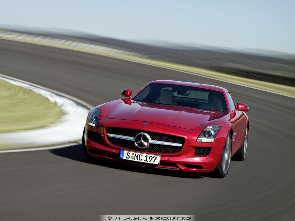 红色奔驰 红色奔驰图片素材 轿车高清图片 名牌车 小轿车 汽车