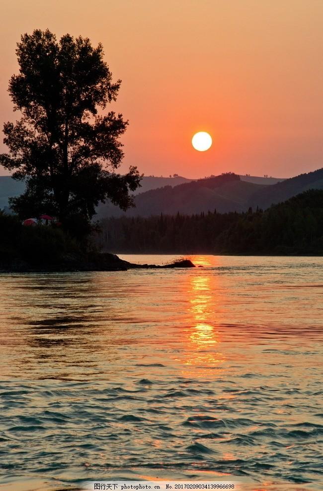 黎明日出唯美风景