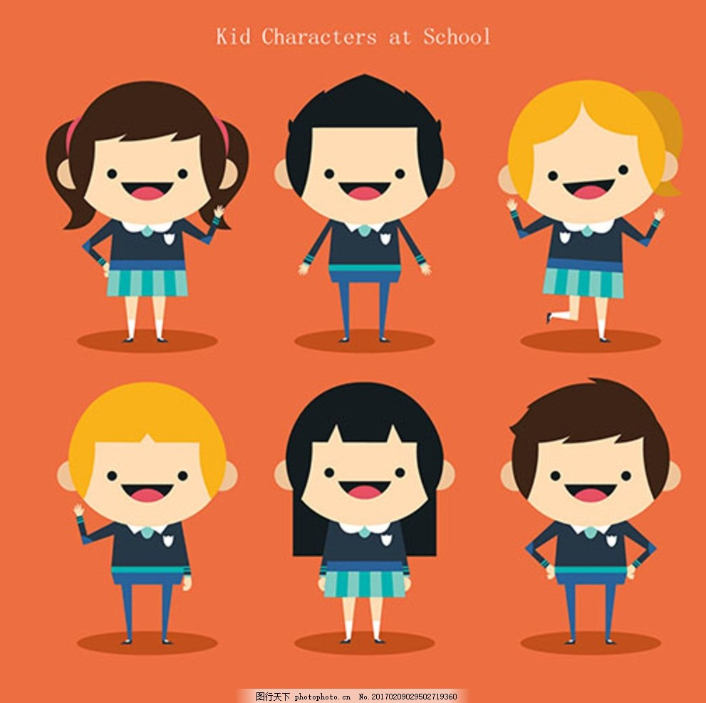 儿童节快乐穿校服的孩子 宝宝 宝贝 婴儿 幼儿园 小学生 中学生