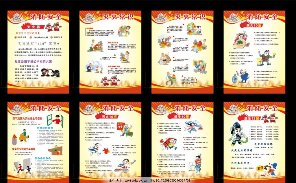 消防展板设计 消防报栏 学习消防 区消防安全 消防常识 政府 超市安全