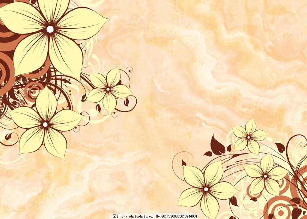 大理石欧式花朵背景墙