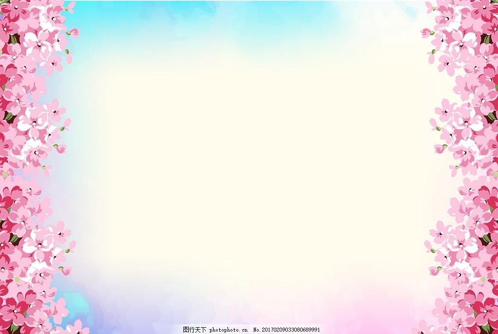 樱花背景墙 樱花树 清新 手绘花朵 梦幻 欧式花朵 唯美 浪漫 背景墙图片