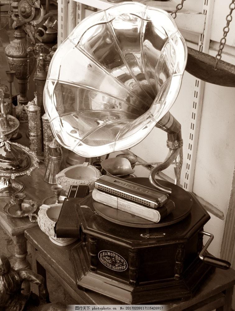 欧式复古留声机 欧式复古留声机图片素材 唱片机 喇叭 乐器 音乐