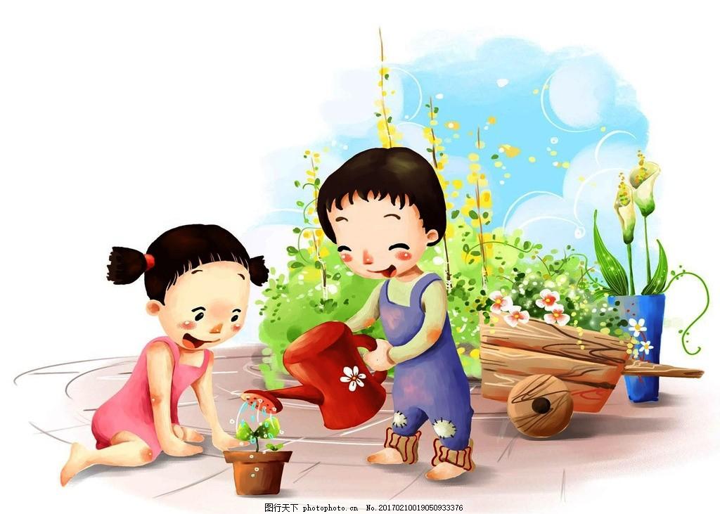 插画 卡通画 卡通插画 卡通人物 韩国插画 韩风插画 素材 设计 文化