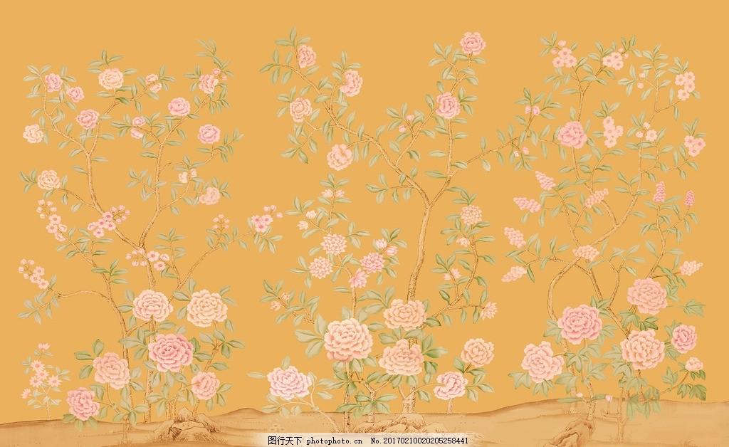 花卉壁纸 树枝花鸟 花鸟图 树枝背景墙 简欧背景 欧式背景墙 壁纸壁画