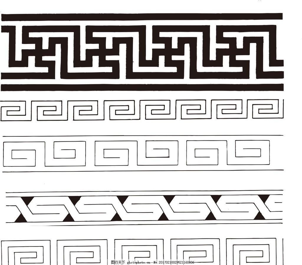 古典边框 黑白 潮流 唯美 欧式花边 植物花纹 装饰花纹 民族风花纹