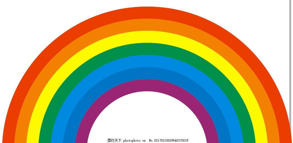 彩虹 彩色 简笔画 7种颜色 彩虹桥 设计 广告设计 广告设计 cdr