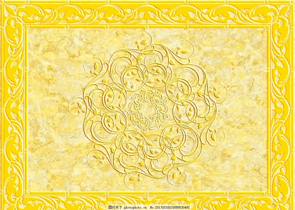 欧式地毯天花吊顶背景墙,大理石纹 欧式花纹 抛晶砖图
