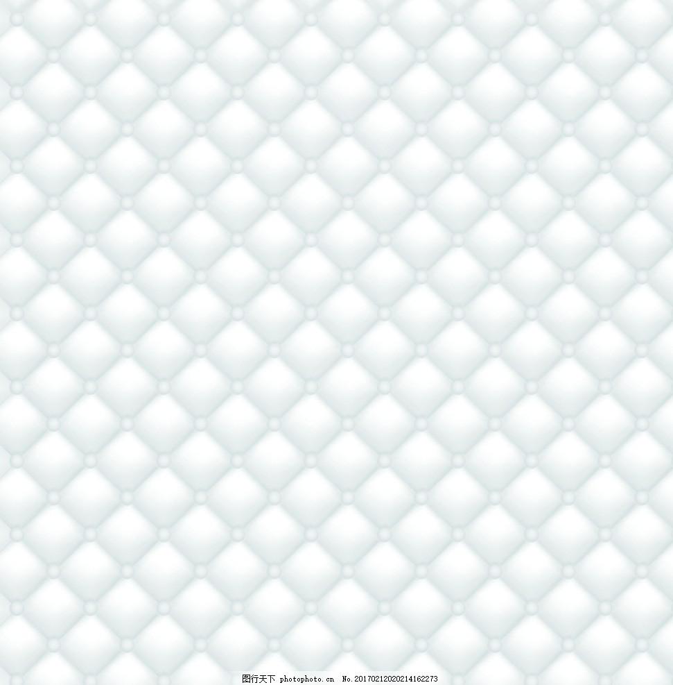 软包效果 欧式背景 白色软包 欧式软包效果