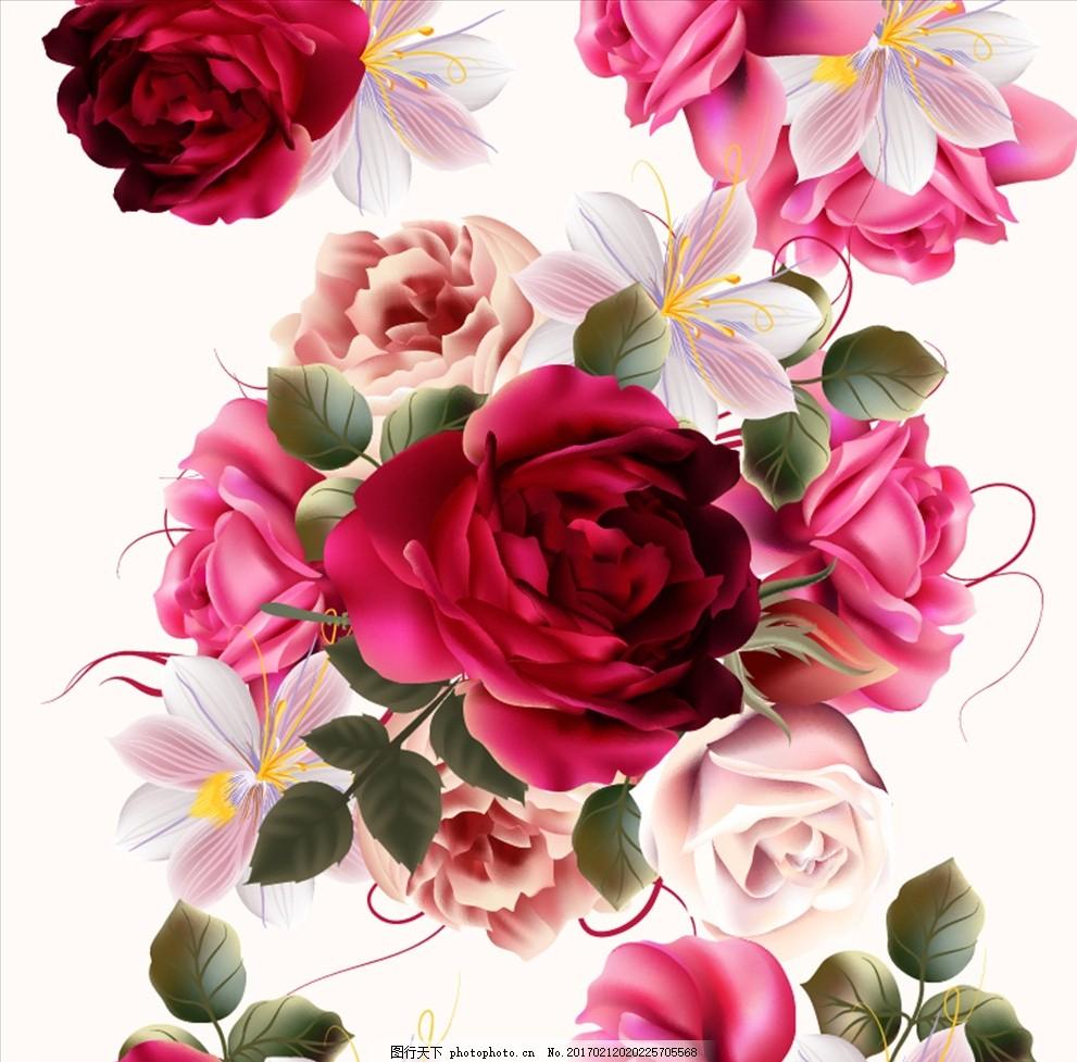 花朵盛开背景 玫瑰 红玫瑰 白玫瑰 玫瑰花 花朵 背景 花 盛开 开放