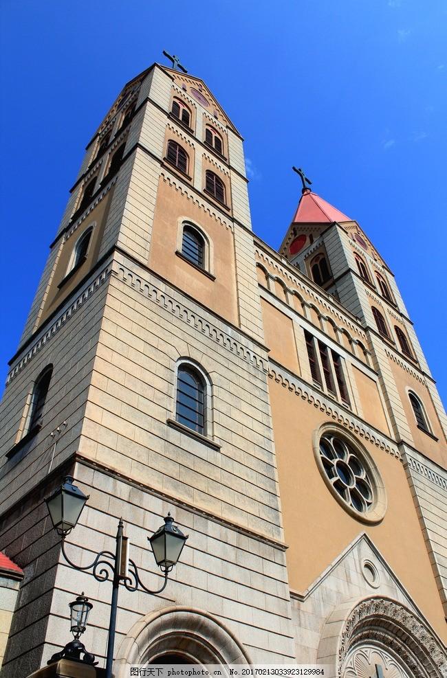 教堂 建筑 欧式 楼房 天空 摄影 国内旅游