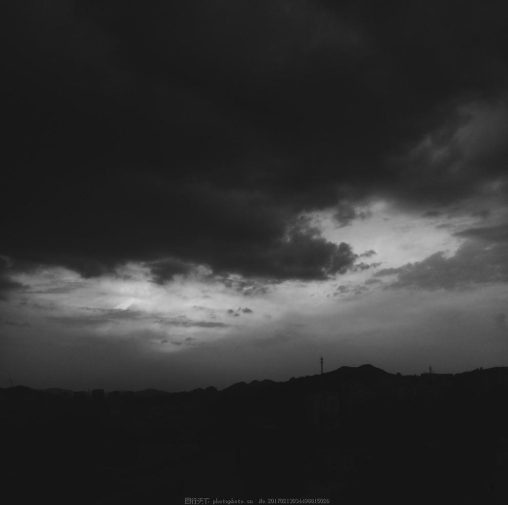 乌云 云 乌 天空 黑白 压抑 摄影 自然景观 山水风景 72dpi jpg