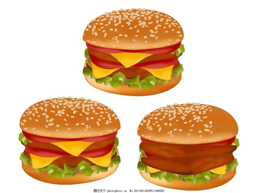 矢量素材 矢量 卡通素材 卡通 手绘素材 手绘 矢量汉堡 卡通汉堡 汉堡