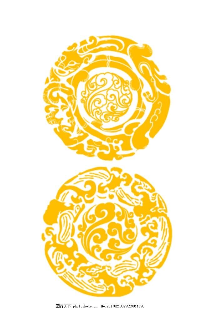 经典 精美 古典花纹 花边 装饰花纹 传统花纹 欧式花纹 古典花边 圆形