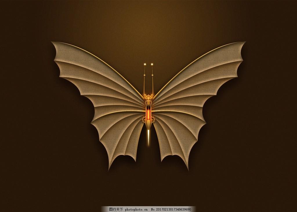 机械蝴蝶 机械 蝴蝶 ui 图标 图层样式 设计 移动界面设计 图标设计