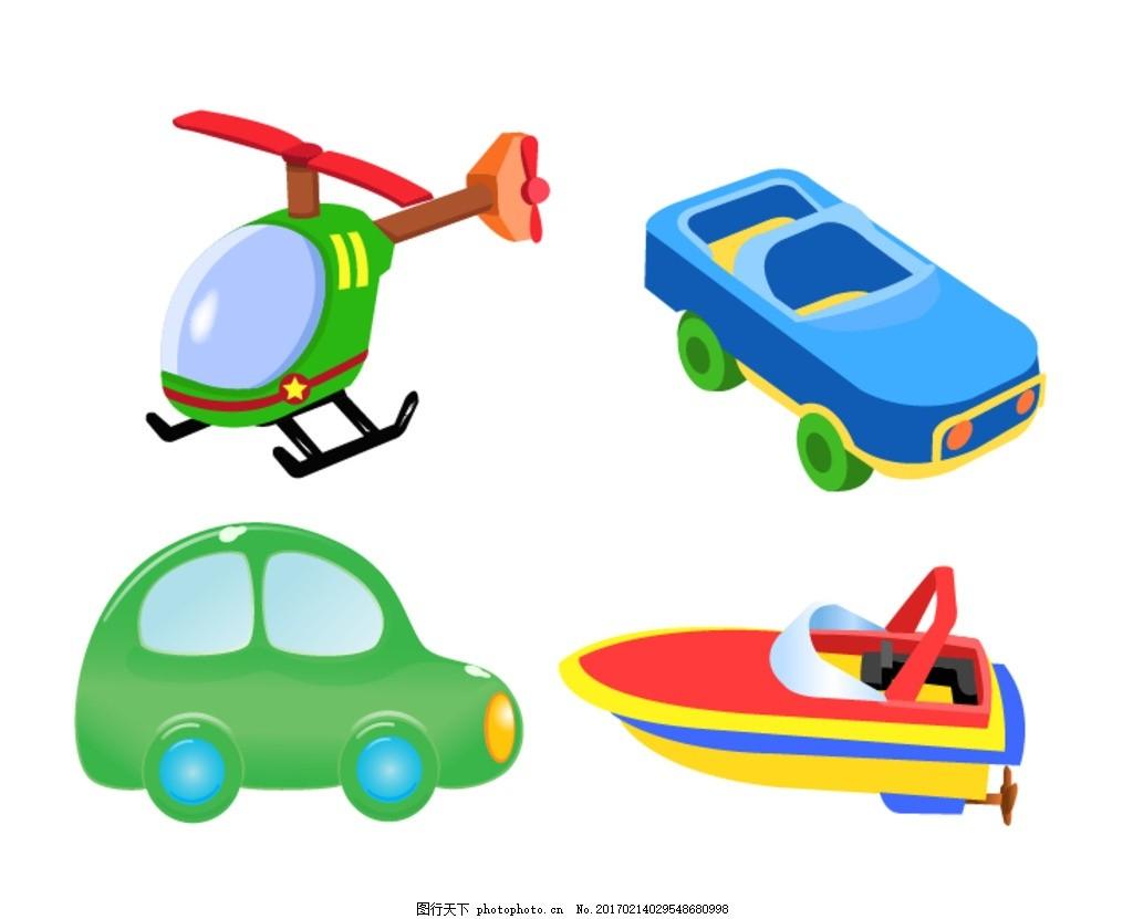 时尚 可爱卡通 矢量素材 儿童汽车 卡通儿童汽车 童车 儿童玩具 卡通