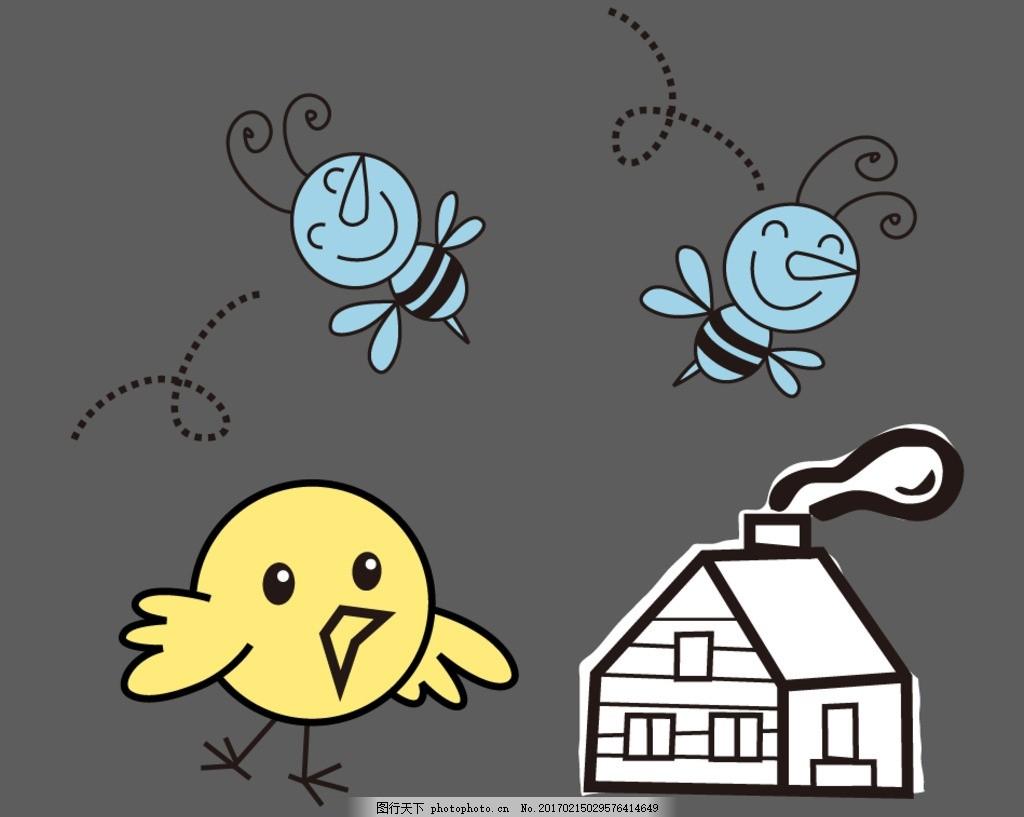 小鸡 蜜蜂 房屋 卡通装饰素材 可爱 素材 卡通 矢量 抽象设计 创意 可爱卡通 儿童素材 幼儿园素材 卡通素材 矢量素材 手绘 线条 简笔画 蜜蜂 卡通蜜蜂 矢量蜜蜂 小蜜蜂 小鸡 卡通小鸡 矢量小鸡 房屋 卡通房屋 矢量房屋 设计 广告设计 广告设计 AI