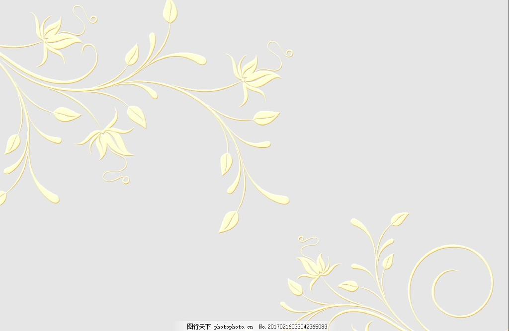 矢量植物花纹背景墙
