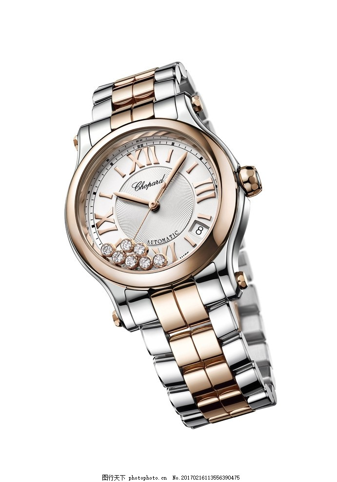 萧邦手表 时尚款式 男款 圆形表面 金属表带 珠宝首饰 摄影 生活百科