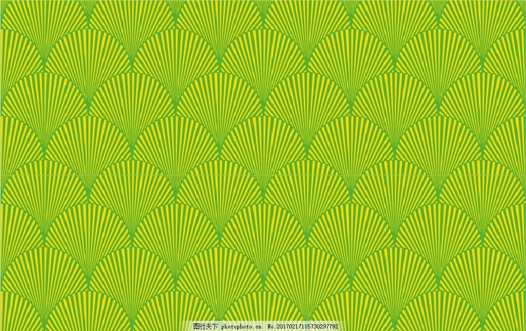 绿色 线条 扇形 扇形线条 线 无缝贴图 重复 中国元素 设计 底纹边框