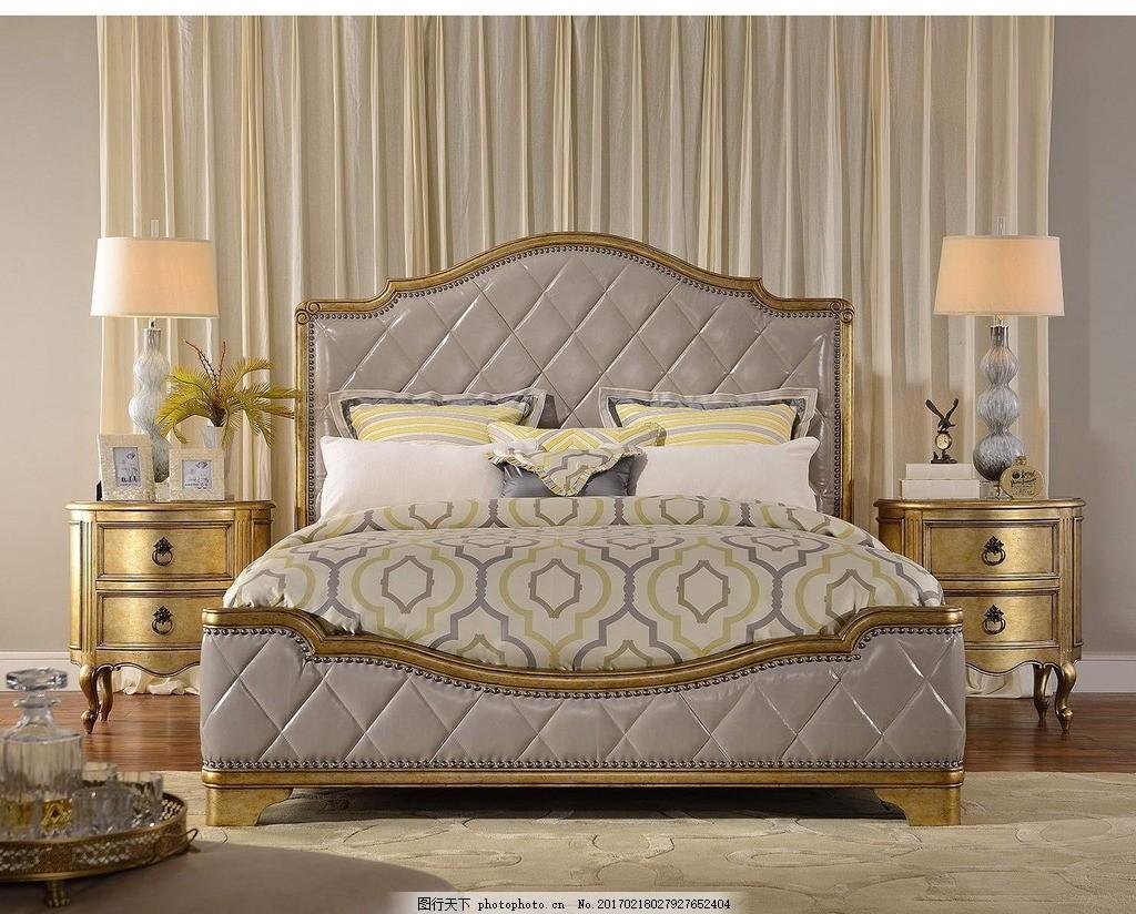 卧室,欧式 现代 客厅 地板 沙发 地毯 墙纸 摄影-图行