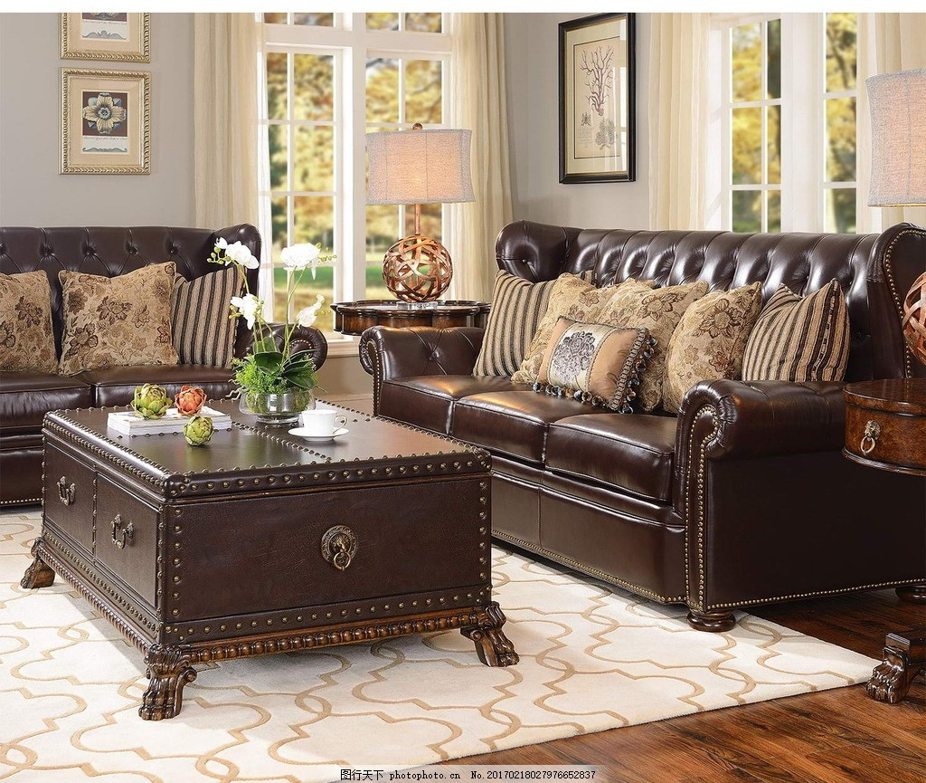 客厅,欧式 地板 沙发 地毯 墙纸 摄影 生活百科-图行