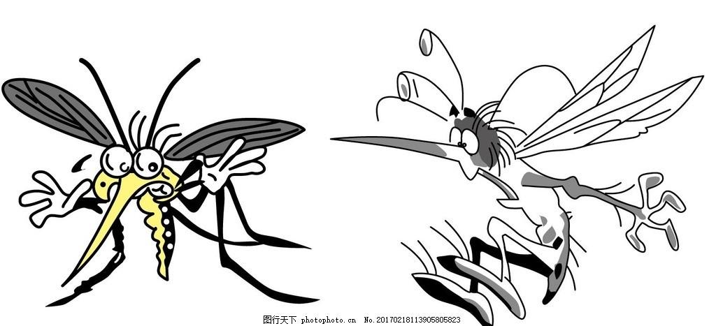 蚊子 驱蚊 昆虫 黑白昆虫 黑白矢量图 黑白素材 黑白画 黑白图