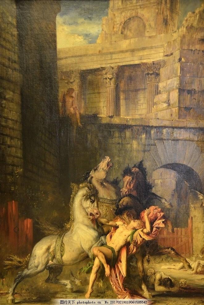 海报 欧美 背景 装修 素材 人物 马匹 手绘 设计 文化艺术 绘画书法