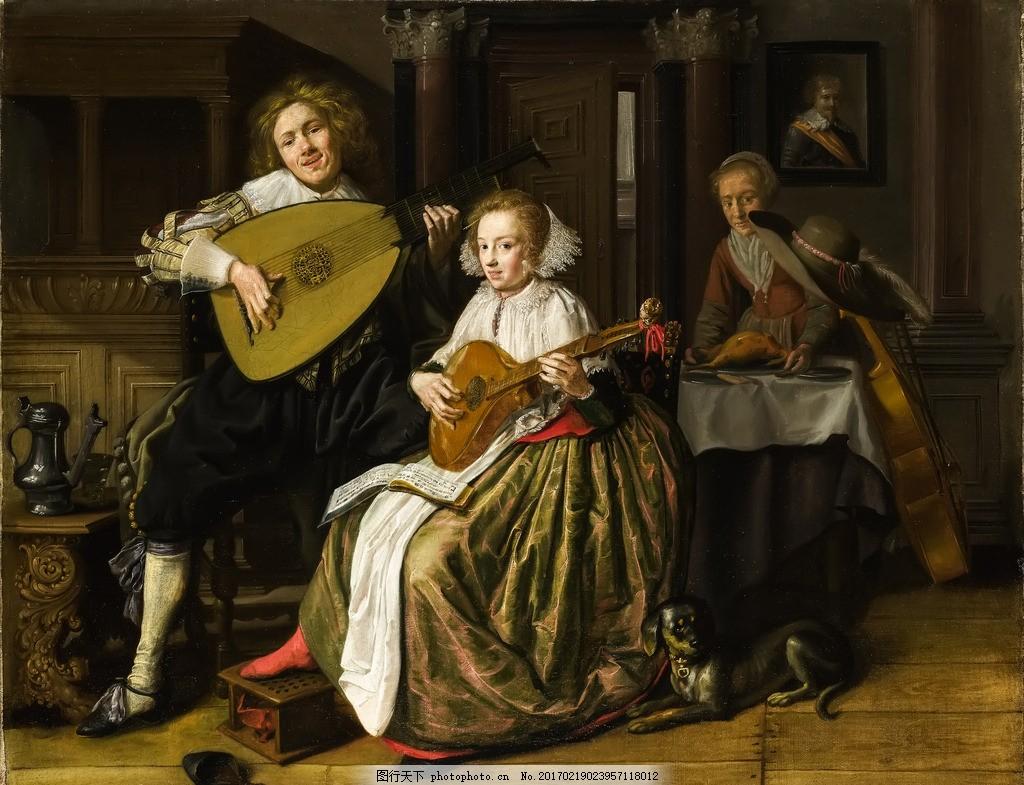 欧美油画 宫廷人物油画 欧式人物油画 古典油画 宫廷贵族生活 圣母