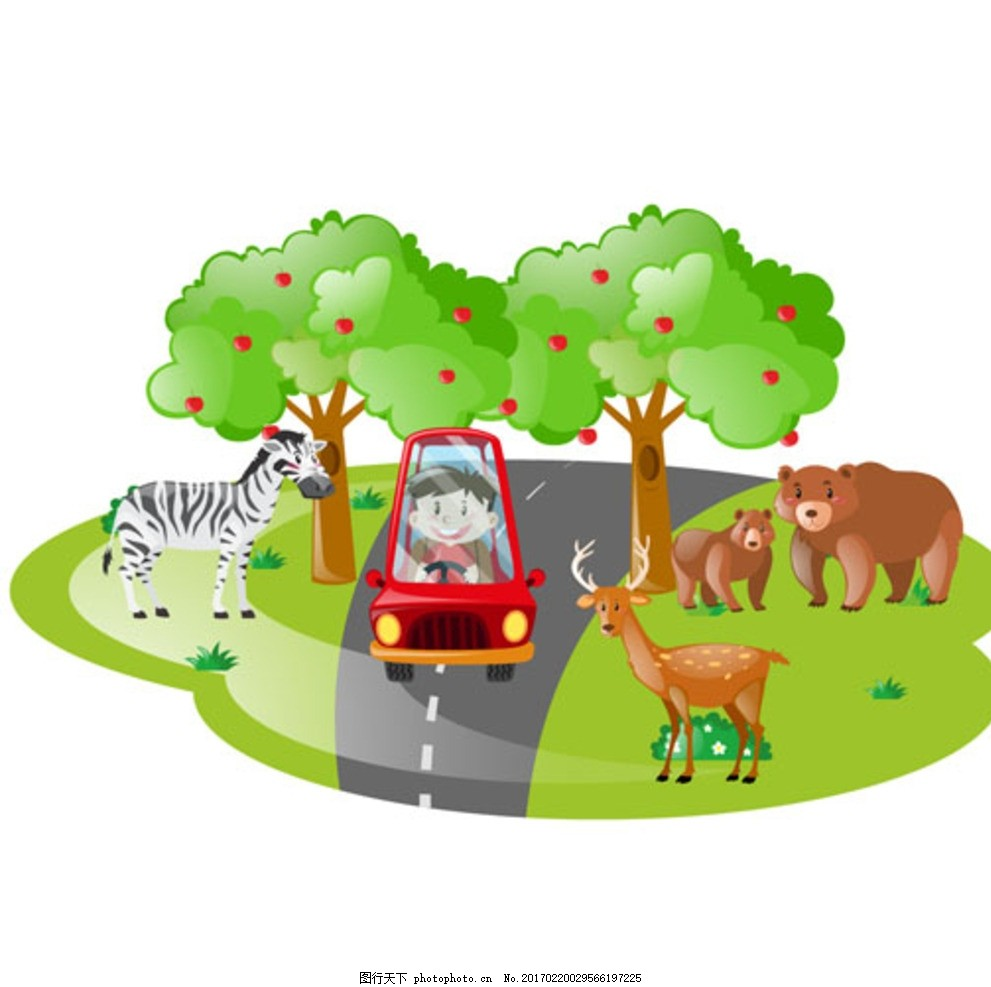 儿童节开车逛动物园的男孩 宝宝 宝贝 婴儿 儿童 孩子 幼儿园 小学生