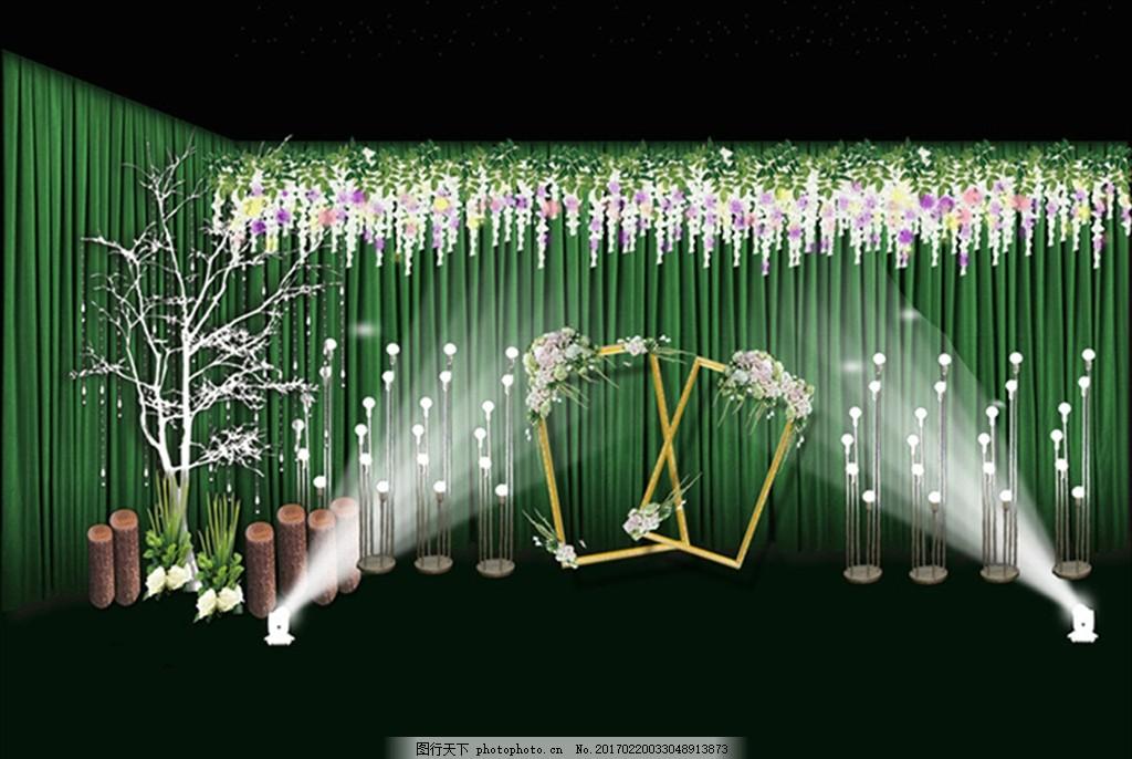 婚礼喷绘 婚礼迎宾区 绿色婚礼 签到台 签到区 婚礼婚庆 森系 婚礼log