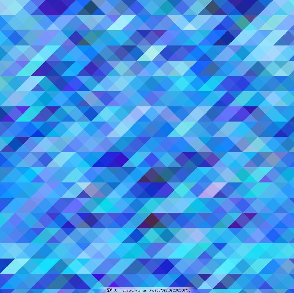 深蓝背景 几何 几何图案 三角形 菱形 多边形 几何图形 彩色背景