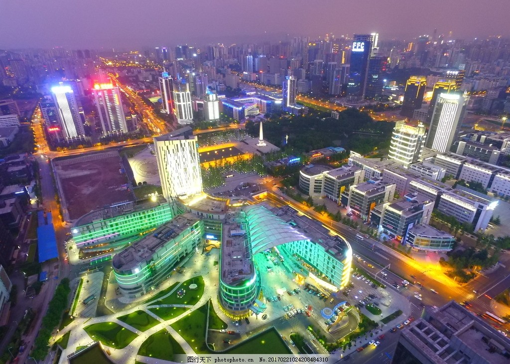 重庆两江新区夜景