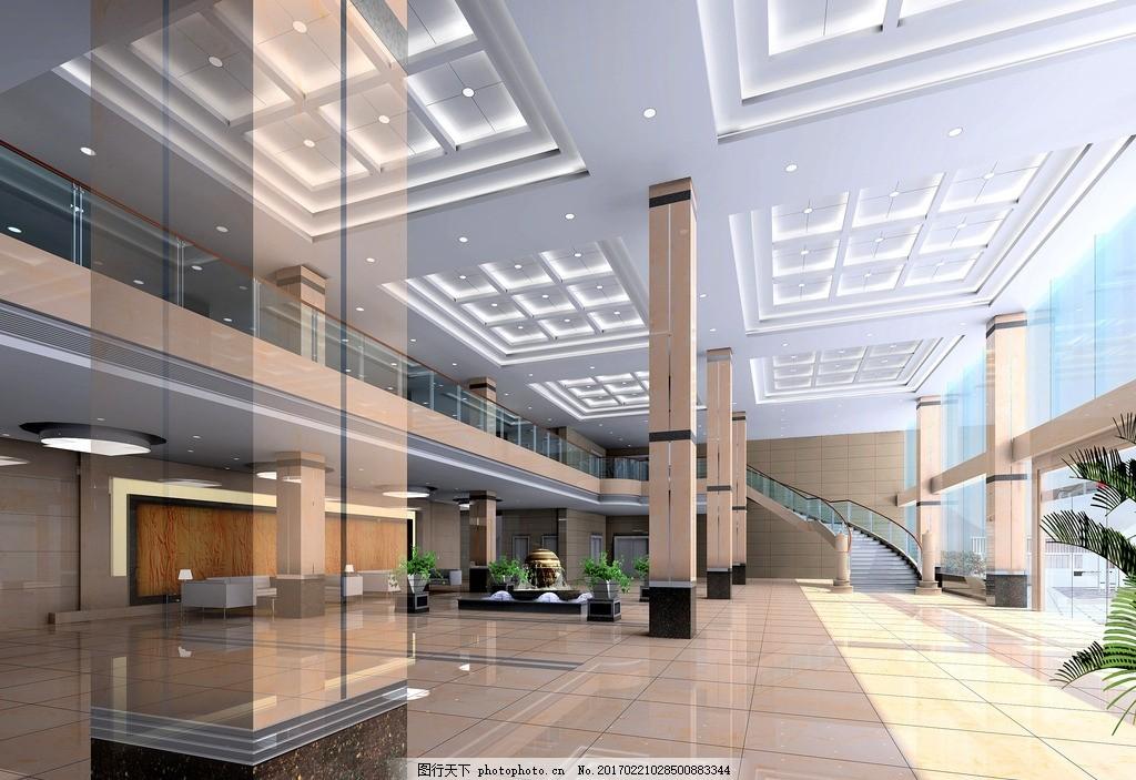 办公楼大堂 大堂设计图 大堂效果图 大堂 敖金林 工装大厅 办公楼大厅