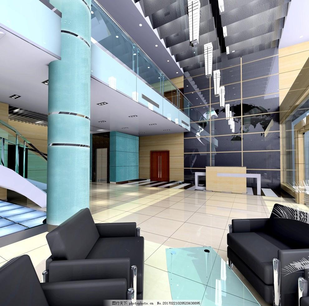办公楼大堂 大堂设计图 大堂效果图 大堂 敖金林 工装 大厅 办公楼