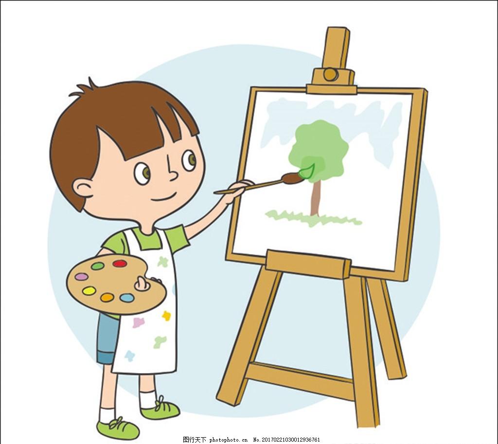 卡通绘画男孩 卡通小孩