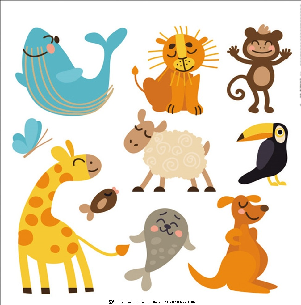 卡通动物笑脸 幼儿卡通 卡通人物 卡通小鸟 卡通猴 卡通狗 卡通鱼 卡通长颈鹿 卡通鹦鹉 卡通羊 卡通设计 手绘卡通 卡通图案 幼儿园卡通 幼儿园图案 幼儿园人物 幼儿园背景 幼儿园创意 幼儿园设计 其它矢量图 设计 广告设计 海报设计 CDR