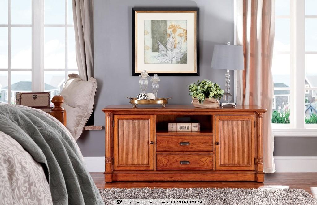 卧室 欧式 简欧风格家具 真皮椅子 摆件 花瓶 壁画 设计图片