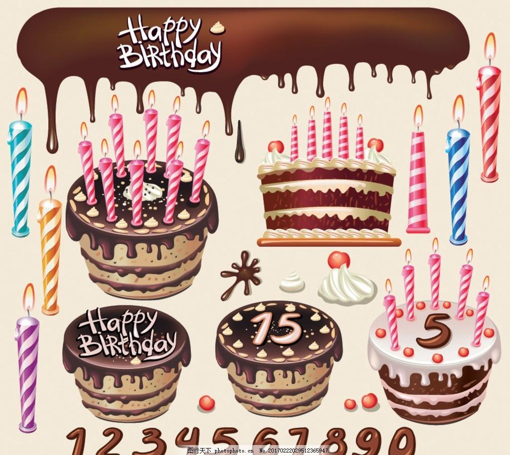 手绘生日派对 生日派对 派对 卡通生日派对 甜品 雪糕 糖果 手绘 生日
