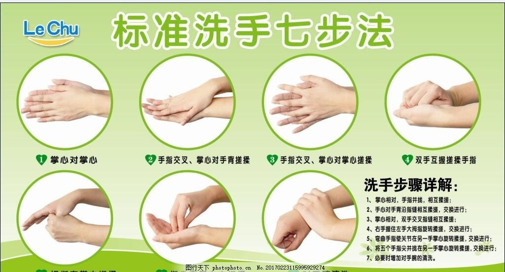 标准洗手七步法