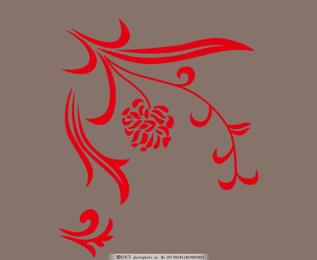 角花 欧式花 角花 欧式花 矢量图 艺术玻璃图案 设计 室内设计 cdr